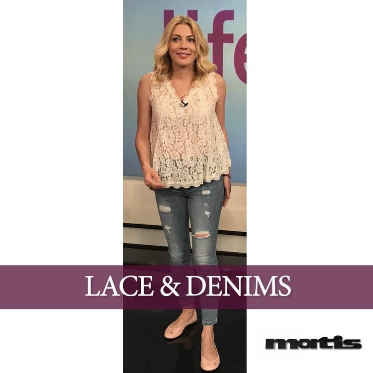 lace top denims create smart ca - matis_fashion | ello