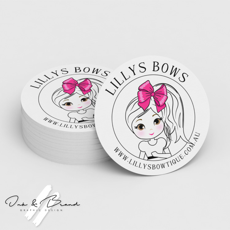 Sticker design based custom log - ink_and_brand | ello