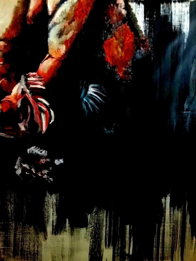 Pintura al óleo Truchas VALENTI - valentineconacento | ello