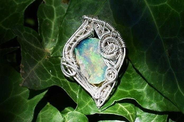 Ethiopian Opal pendant wrapped  - alaskamooon | ello