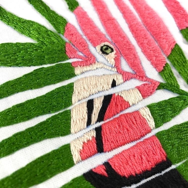 detail shot hand embroidered fl - sewnbythebeach | ello