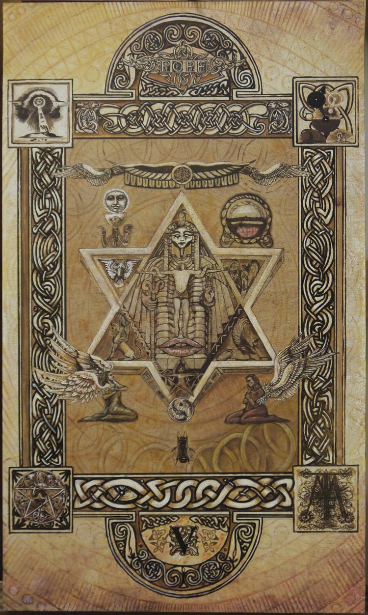 Tarot- Le Pape / Pope Acrylique - tuffelli | ello