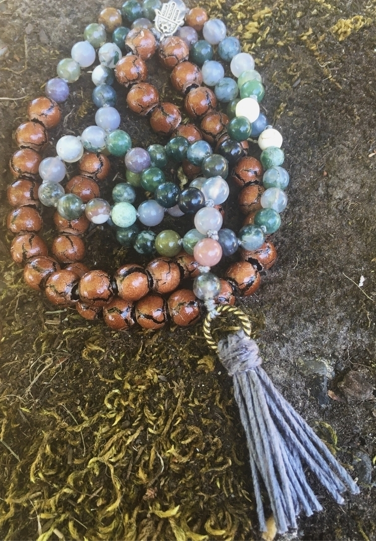 Jasper brown wood beads natural - gypsyxjewels | ello