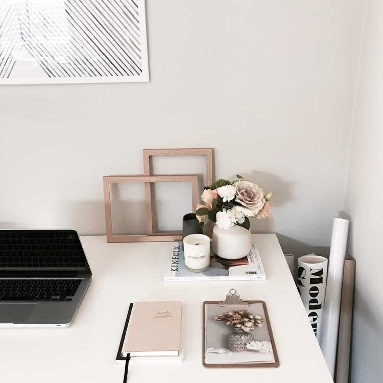 - Desk Styling  - hutwoods, candles - peony_soiree | ello