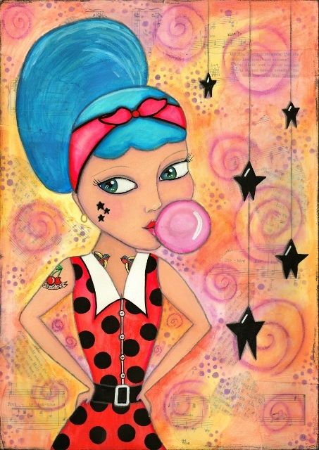 call Rockabilly Rita. piece yea - janesshoeboxstudio | ello