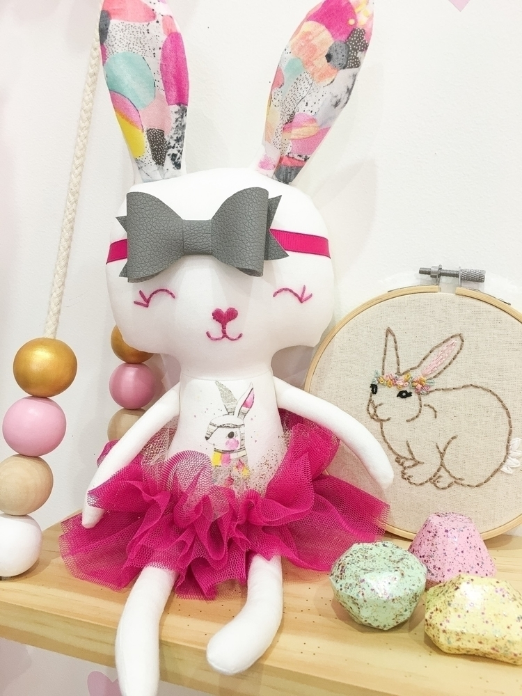 Laura Blythman mini bunny grey  - rhapsodyandthread | ello