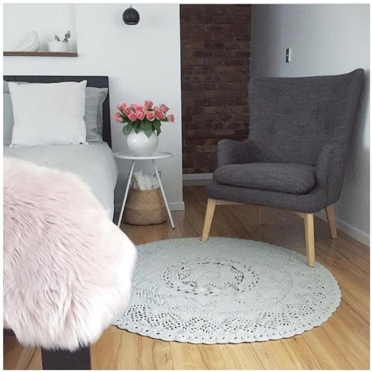Amara rug cloud grey! 120cm. pr - thesailingsheep | ello