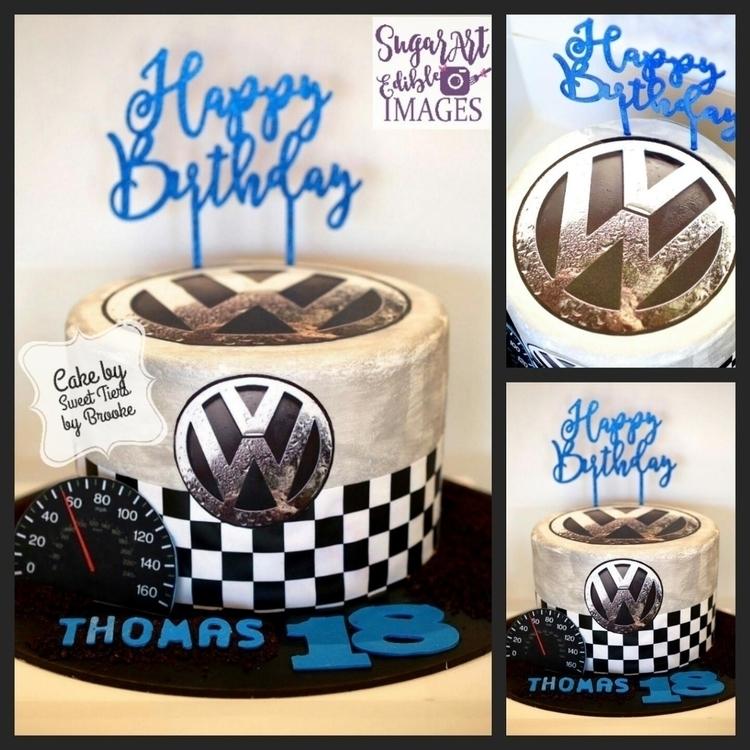 VW Cake - edibleart, vwlogo, sugarartedibleimages - sugarart_edibleimages | ello