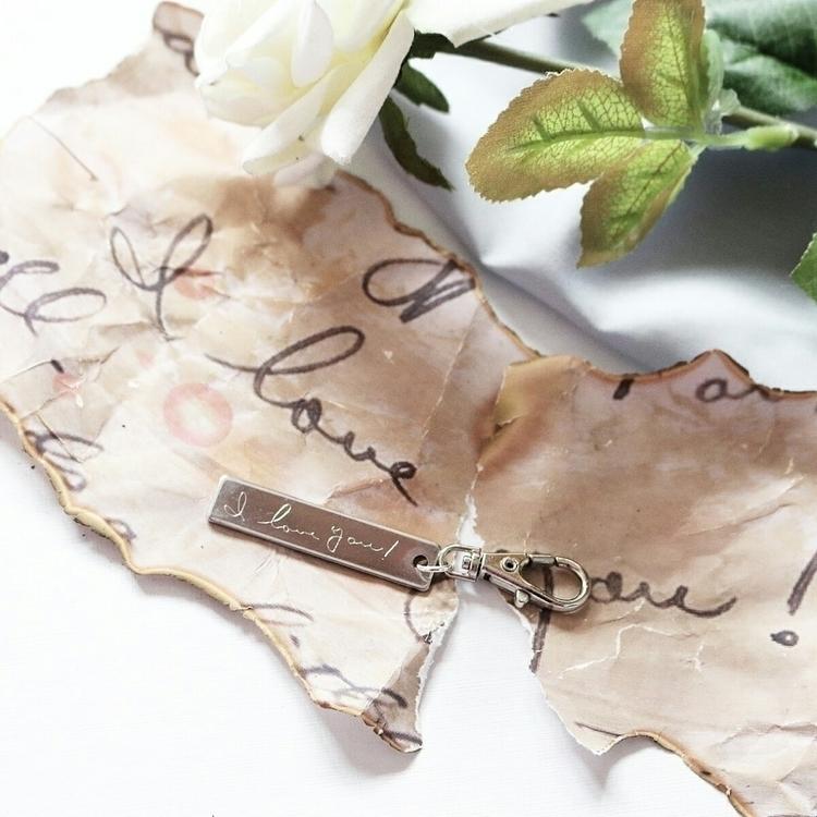 Handwritten Engraved Keyring - hollyharrison | ello