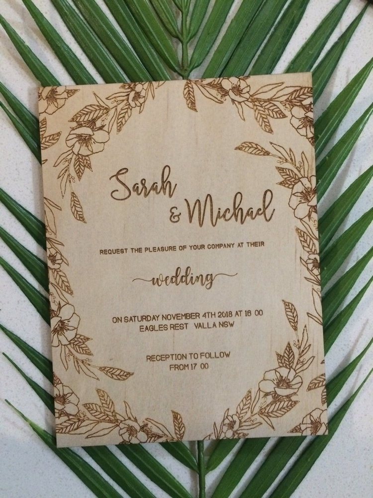 statement Timber wedding invite - trescollective | ello