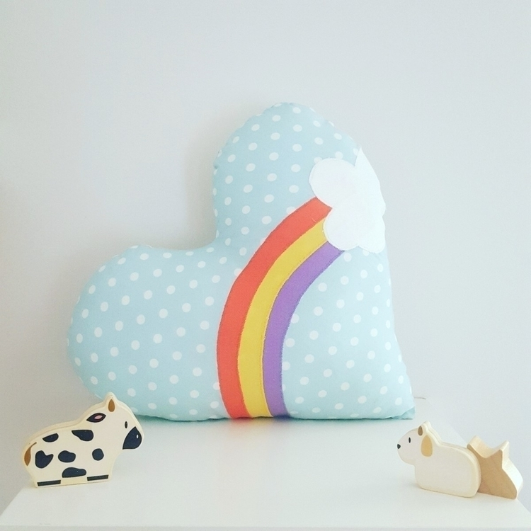 sing rainbow... pretty cute  - rainbowcushion - blanketmeadow | ello