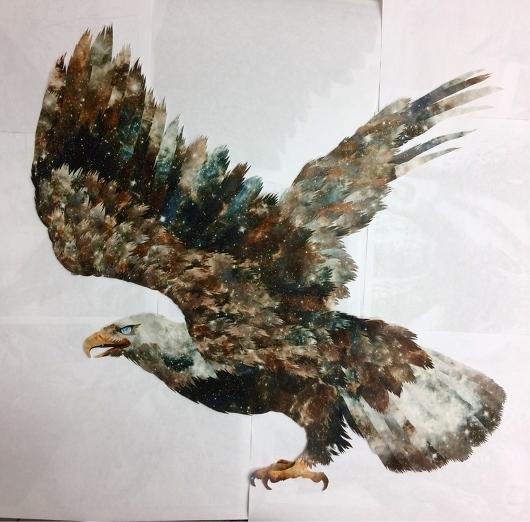unmounted - spaceeagle, collage - williamgaylorpeters   ello