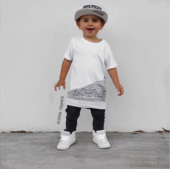 Bentley Rockin Bandana Tee - outfitonpoint - littleripperz | ello