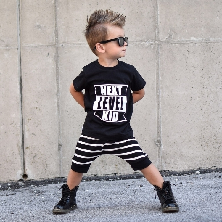 Level Kid tee shirt wearing NLK - 9twentyfivekids | ello