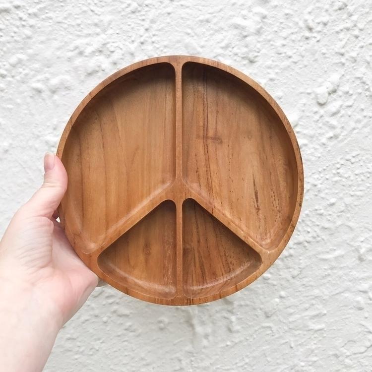 Eco Teak wood divided plate. Ex - doveanddovelet | ello