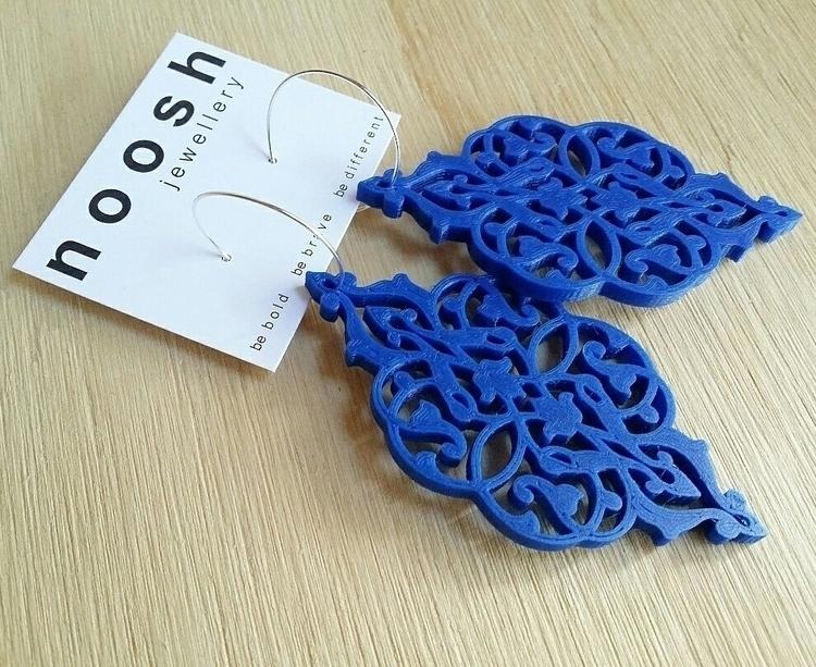 3d printed Chandi Dangles! bold - nooshjewellery | ello