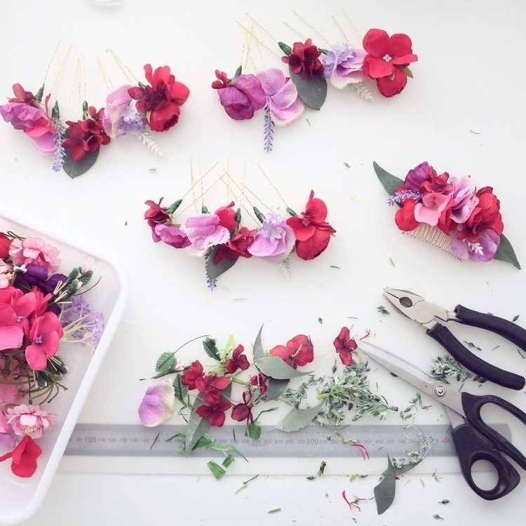 custom order; sets 5 silk flowe - summerblossom | ello
