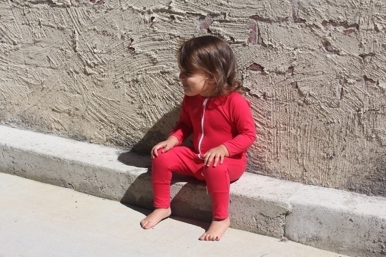Red Happy Suit Baby bold red /  - mypeopleco | ello