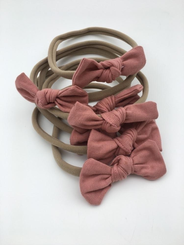 Dusty pink miniknots $8 topknot - penelopekids | ello