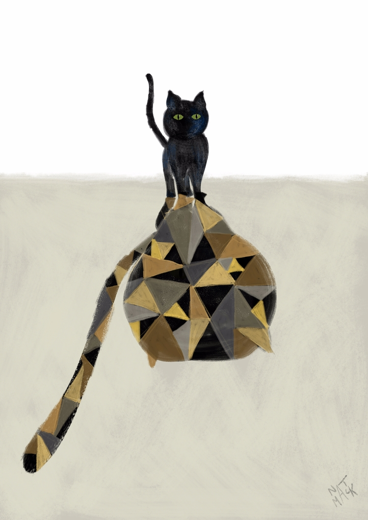 Strength - illustration, catillustration - natmack | ello