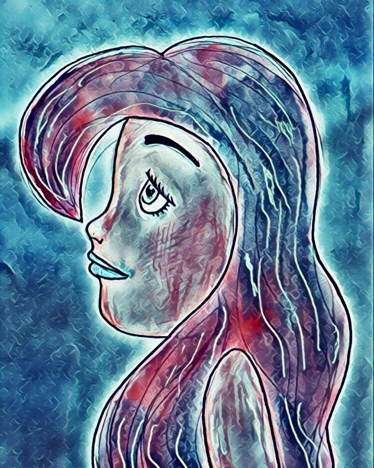 ariel inspired drawing:heart:️  - poppymae   ello
