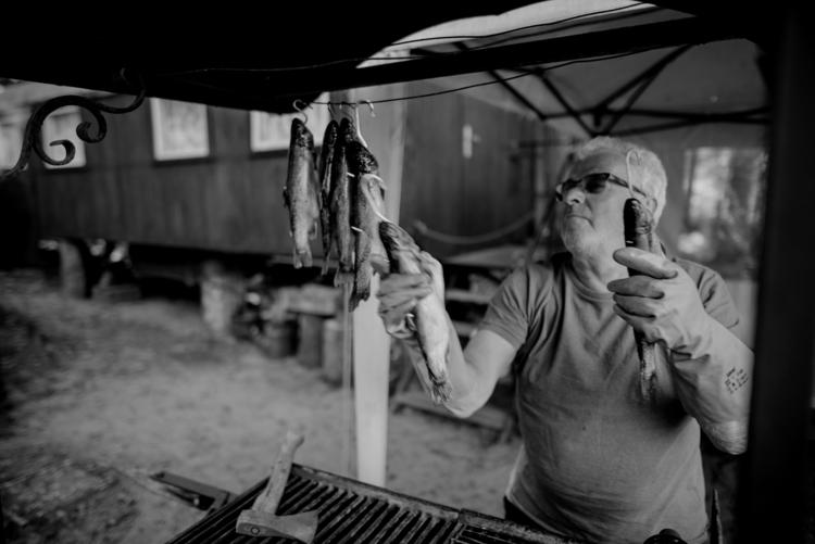 Trouts readied smoking, Linow - trouts - peterrunkewitz | ello