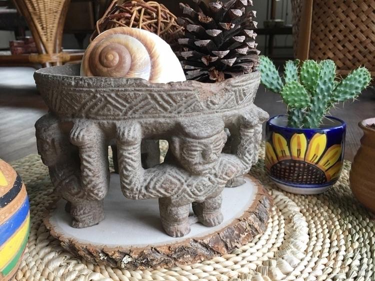 bowl, Decorative - Mayan, circleoffriends - ellothrift | ello