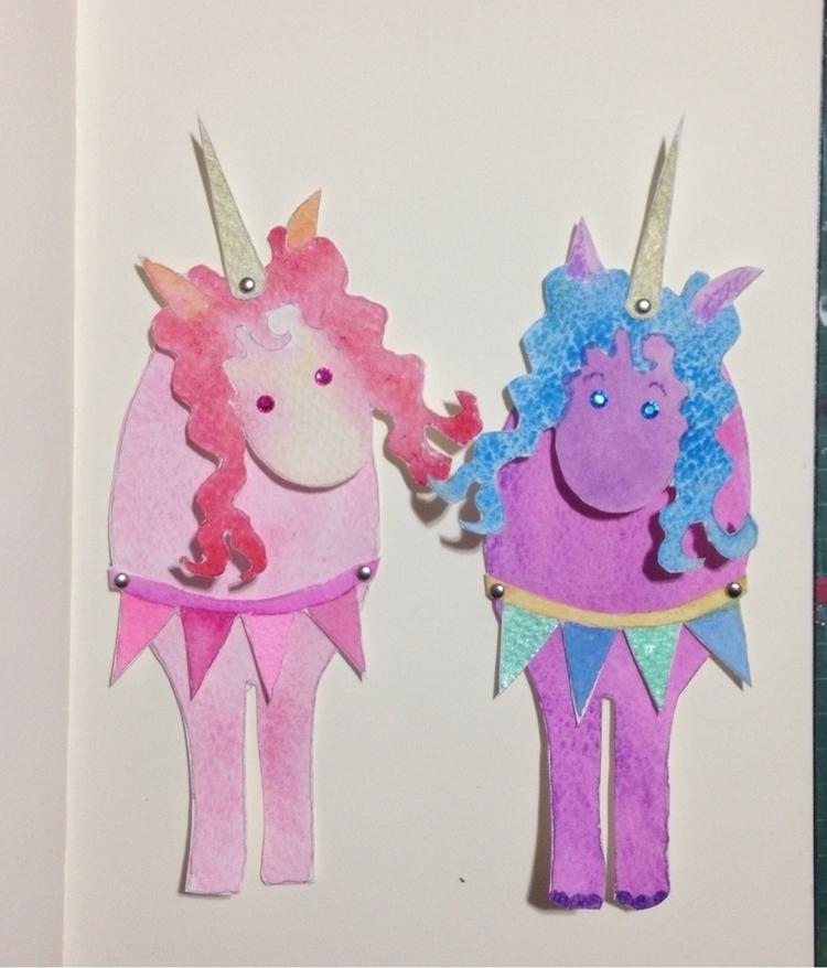 Paper doll unicorns - janecarlisle | ello