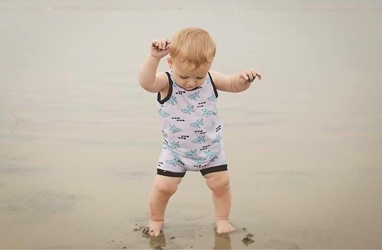 cutest man Shark Romper - mywildarrow | ello