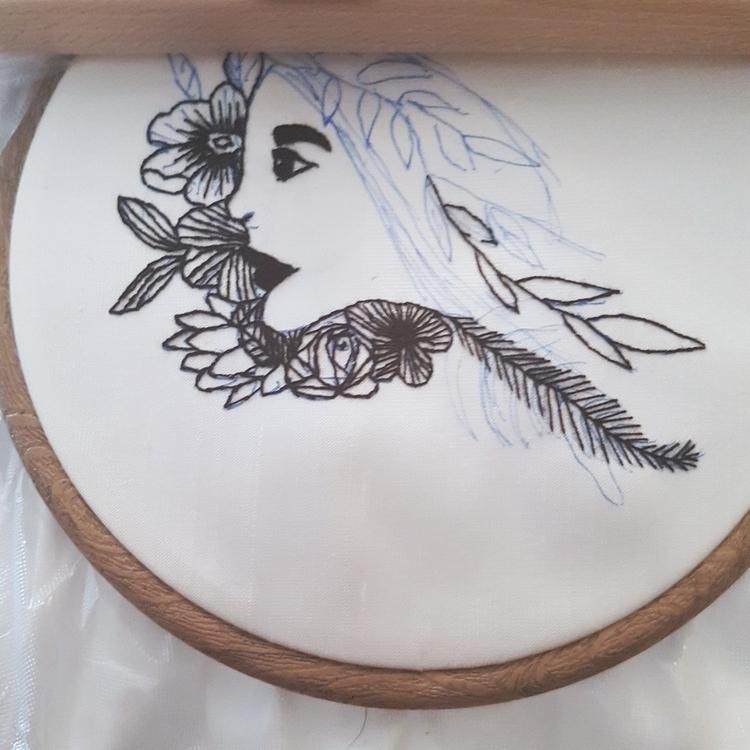 mixing illustration embroidery - fullmetalneedle | ello