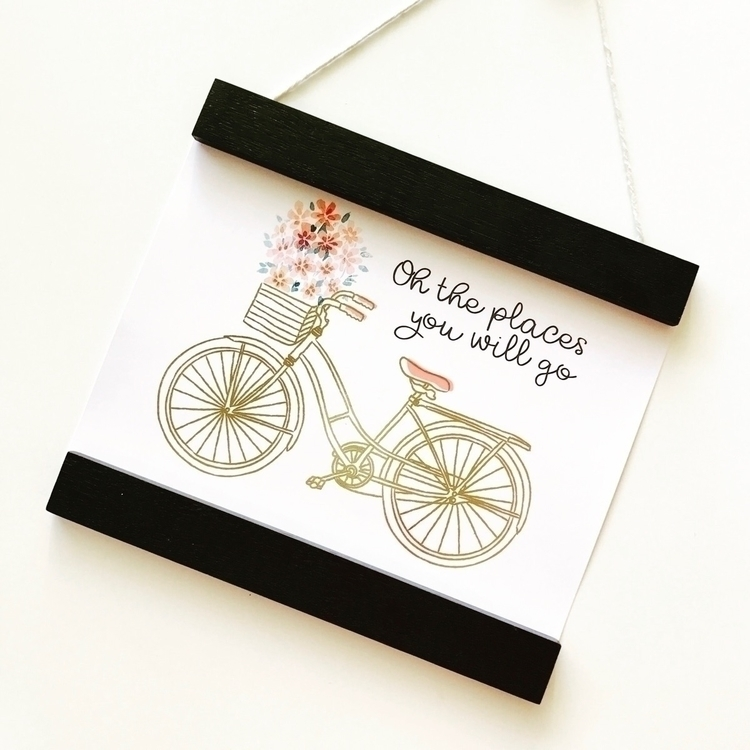 • places retro bike prints foil - kaebee_designs | ello