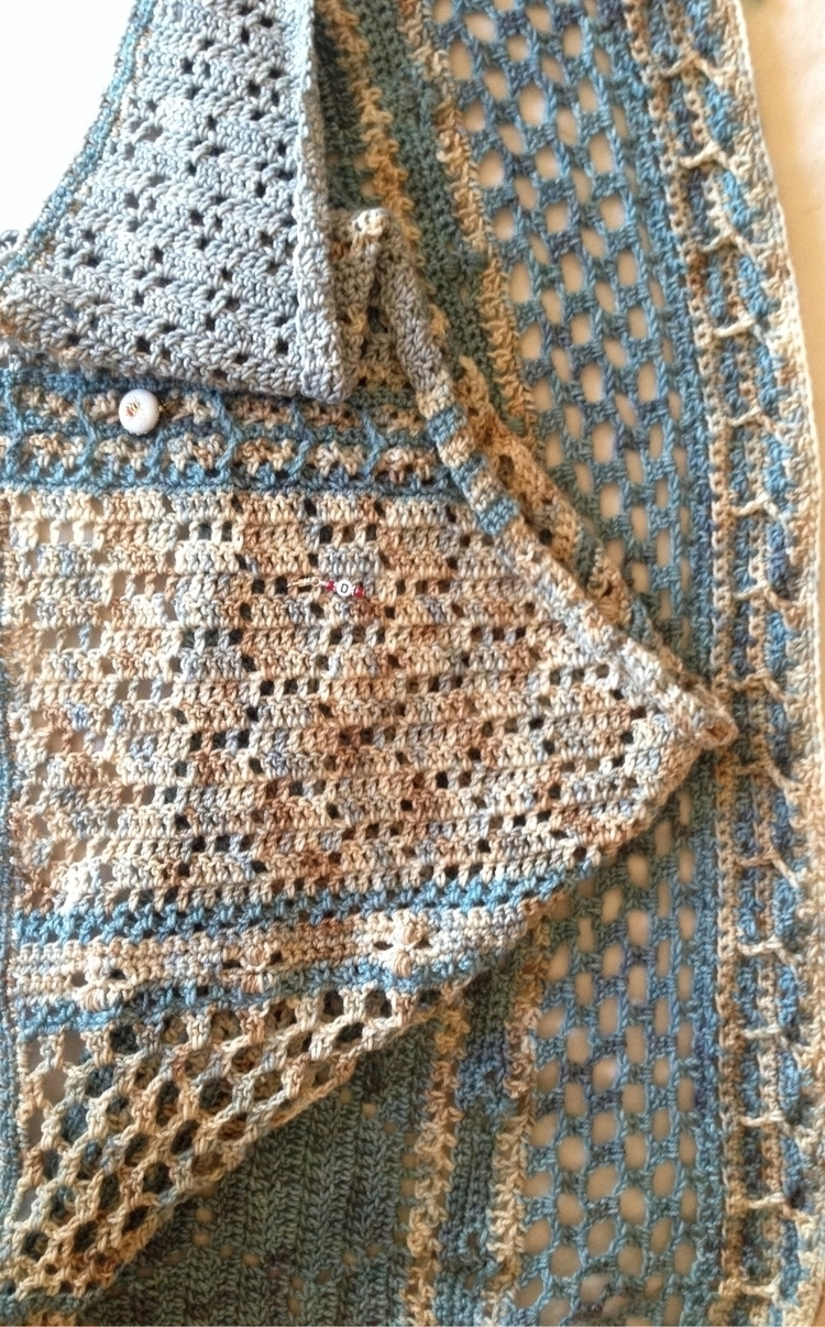 pre blocking. Loved project!:ho - knitalatte | ello
