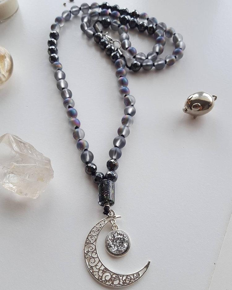 Magical Midnight Moon Mala:moon - kays_kreationss | ello
