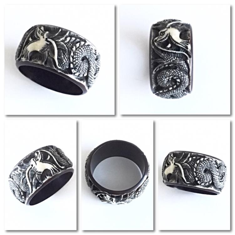 Dimensional dragon bangle intri - jewelrybubble | ello