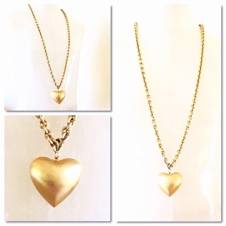 puffed heart pendant necklace - jewelrybubble | ello