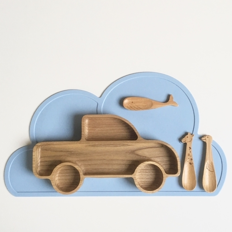 Blue - cloudplacemat, kidsplacemats - projektlittle | ello