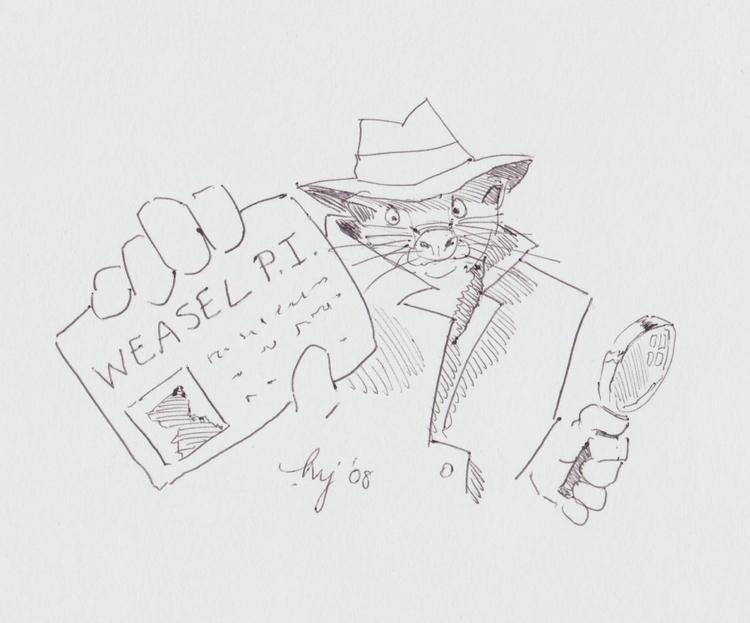 'Weasel - escape, dig scrape, w - artbymikejory | ello