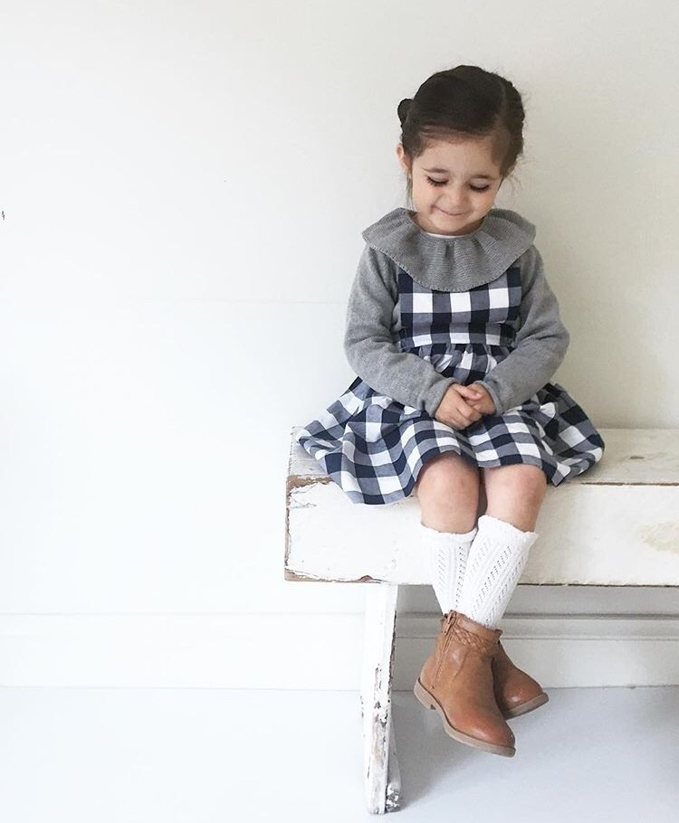 Gingham life} sweetest navy gin - pipandlenny | ello