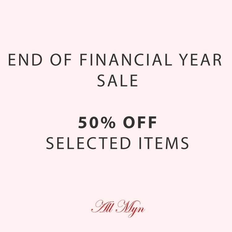 Financial Year Sale - 50% stock - allmyn | ello