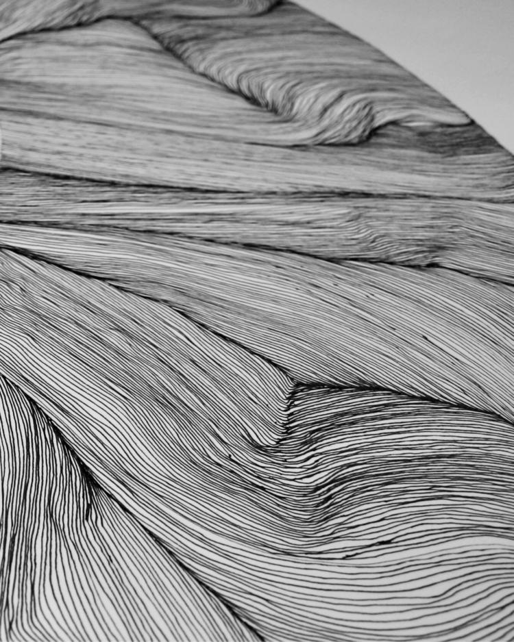 Lines - drawn, illustration, garagerock - themoonapes | ello