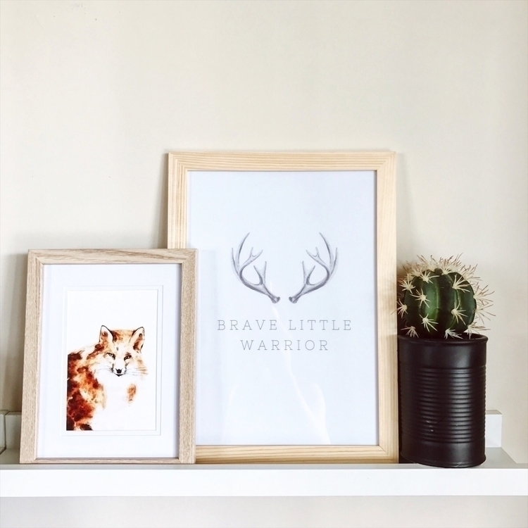 warrior 🦌  - Prints, Printable, BirthPrint - harperdesign | ello
