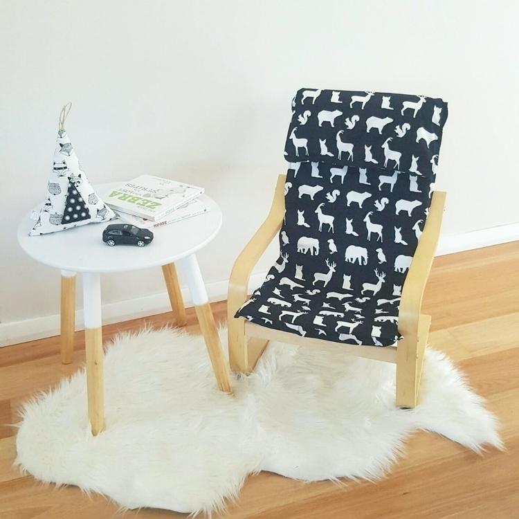monochrome slipcover love 🖤 - handmade - blanketmeadow | ello