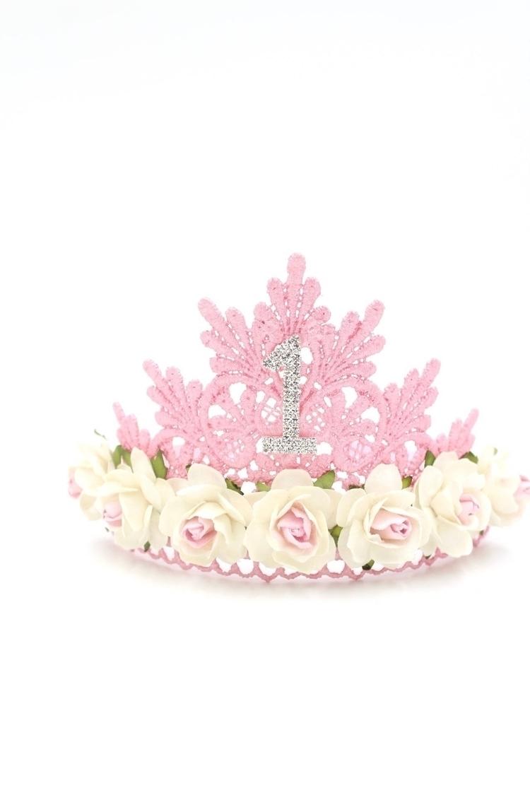 birthday flower lace TIARA tie  - lovecrushcrowns | ello