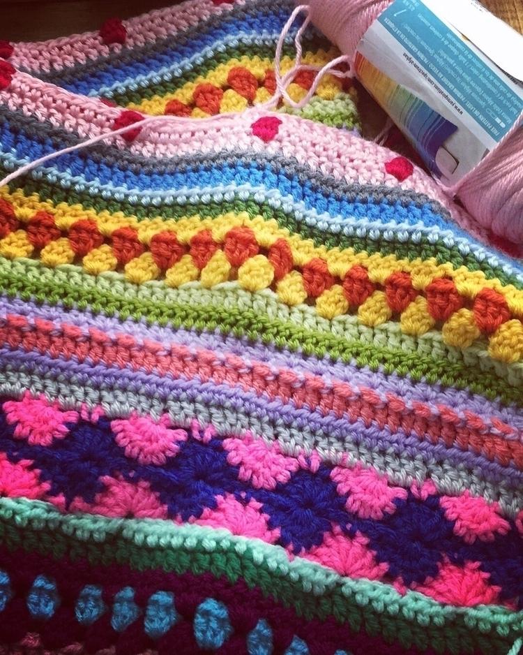 Crochet work progress! colorful - purpleorchidart | ello