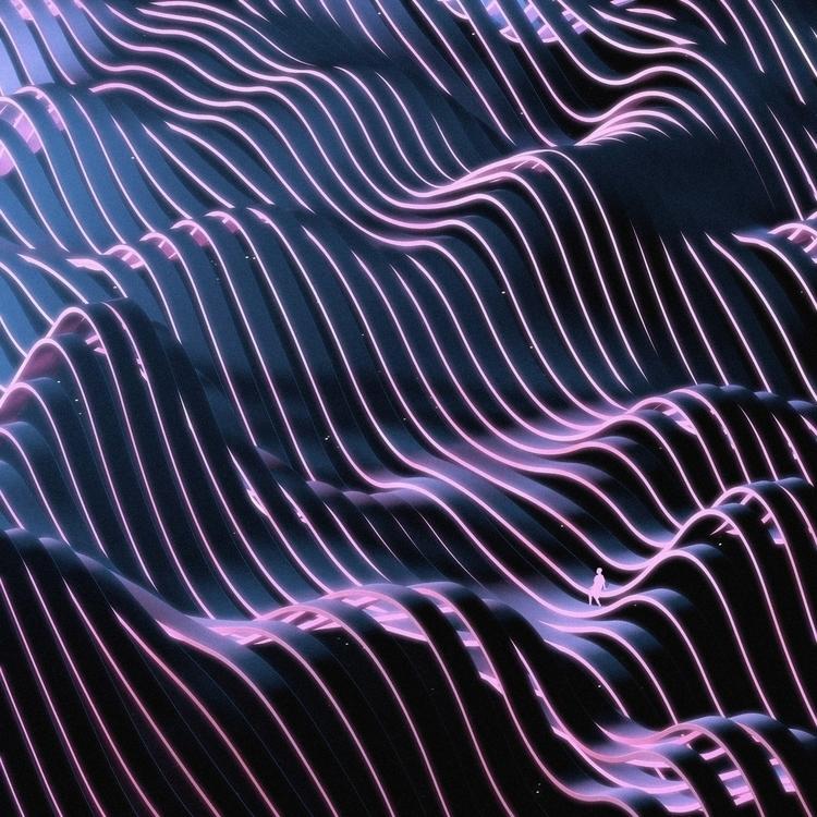 -Space Ribbons II - albumart, digitalart - aeforia | ello