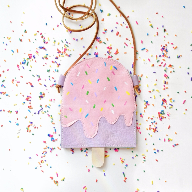 Sprinkles Popsicle. Handmade le - willowandfigleatherco | ello