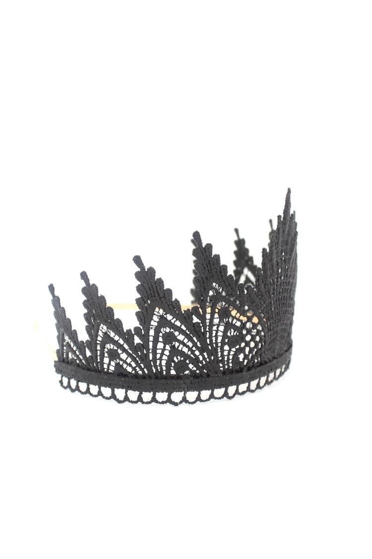 black lace TIARA || dark fairy  - lovecrushcrowns | ello