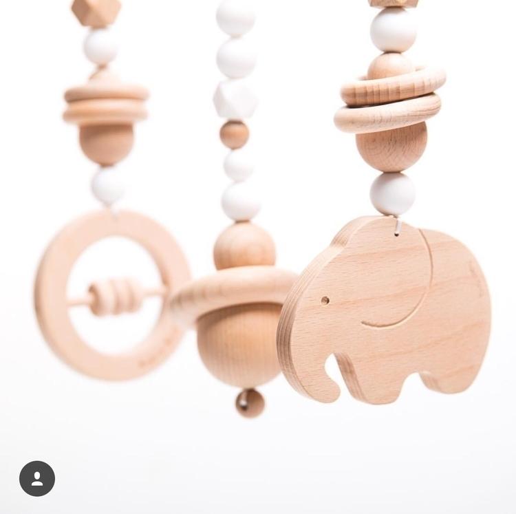 Wild Baby Gym Toy Set Snow Whit - modernmonty   ello