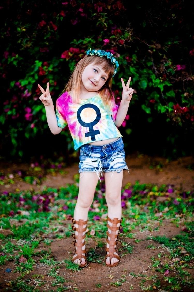 Girl Power tie dye crops - lgndsxphnms | ello