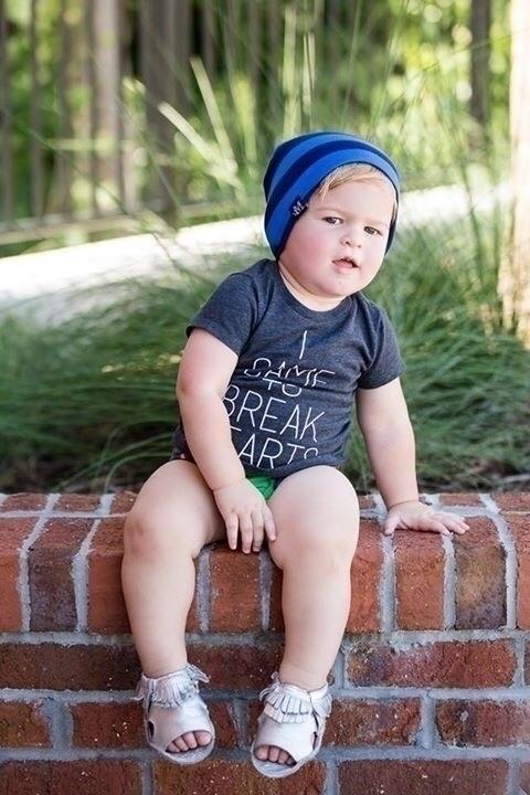 cutie rocking Blue Tonal Stripe - mightywarriordesigns   ello